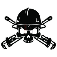 Death Skull Oil Rigger Roughneck Decal Sticker