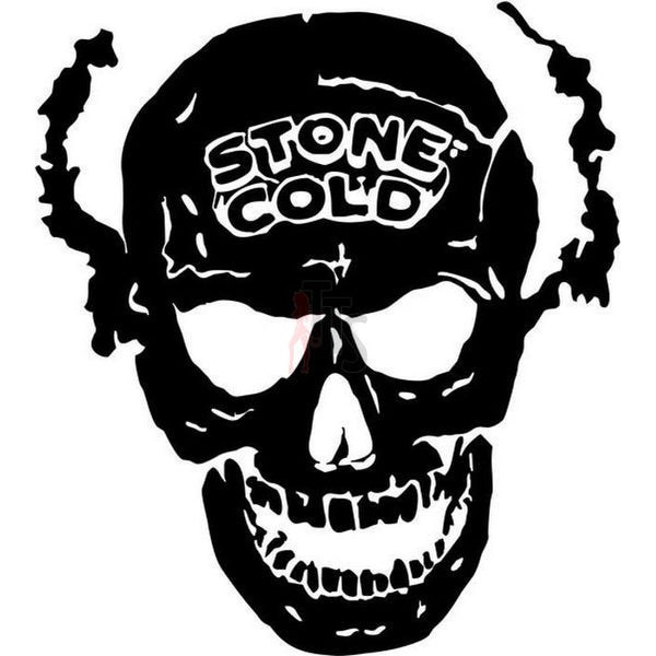 Death Skull Stone Cold Decal Sticker
