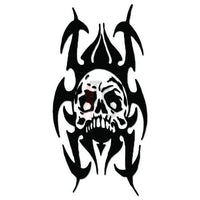 Death Skull Tribal Art Decal Sticker Style 6