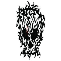 Death Skull Tribal Art Decal Sticker Style 7