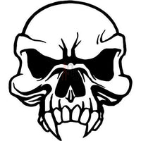Death Skull Vampire Decal Sticker