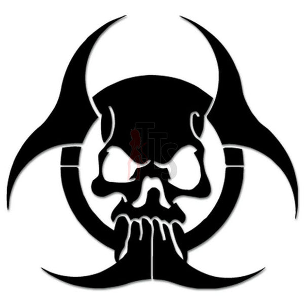 Death Skull ombie Biohazard Radioactive Decal Sticker