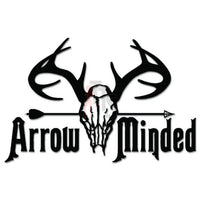 Hunting Deer Buck Antlers Arrow Minded Decal Sticker