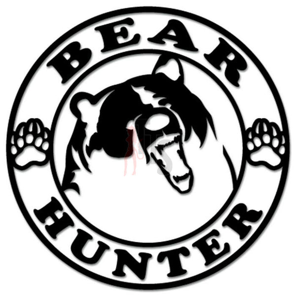Bear Hunter Hunting Decal Sticker