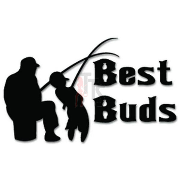 Best Buds Fishing Decal Sticker