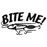 Bite Me Fishing Bait Lure Decal Sticker Style 1