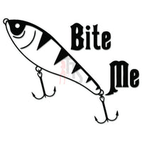 Fishing Fish Bite Me Bait Decal Sticker
