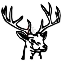 Hunting Deer Buck Antlers Decal Sticker Style 2