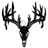 Deer Buck Antlers Hunting Decal Sticker Style 1