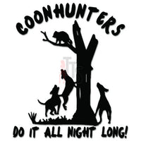 Coonhunters Raccoon Hunting Decal Sticker
