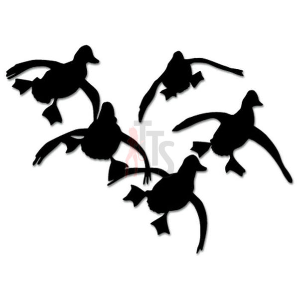 Ducks Geese Flying Hunting Decal Sticker Style 1
