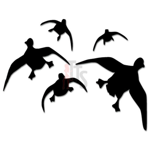Ducks Geese Flying Hunting Decal Sticker Style 2