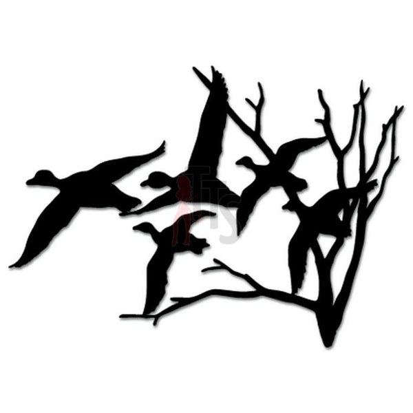 Ducks Geese Flying Hunting Decal Sticker Style 5