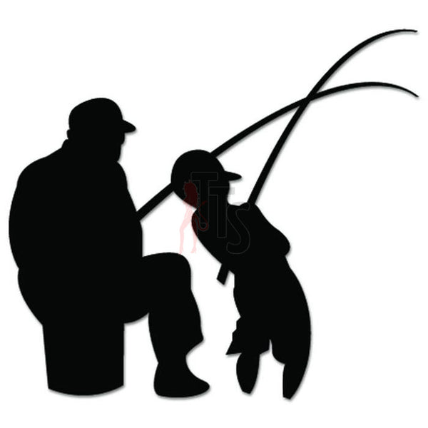 Father Son Fishing Fish Decal Sticker