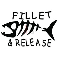 Fillet Release Fish Fishing Decal Sticker