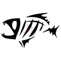 Fish Bone Fishing Decal Sticker Style 3