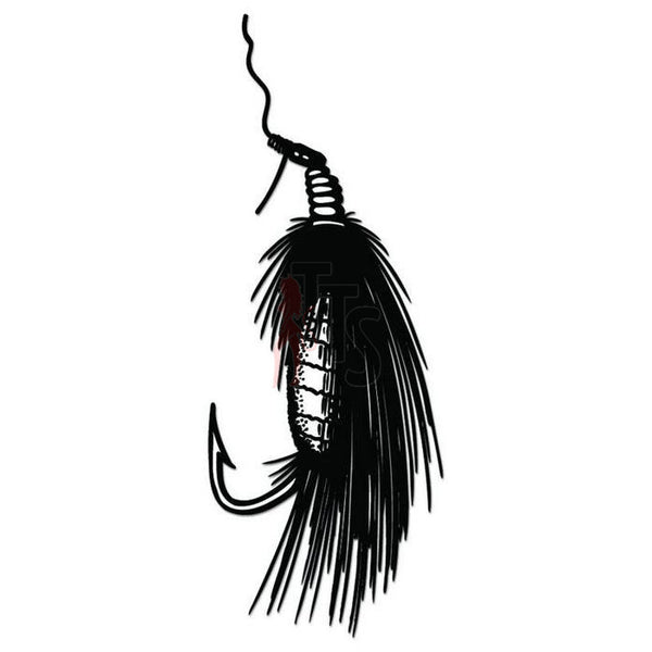 Bait Lure Hook Fishing Decal Sticker Style 5