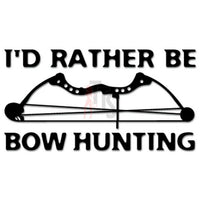 I'd Rather Be Bowhunting Decal Sticker