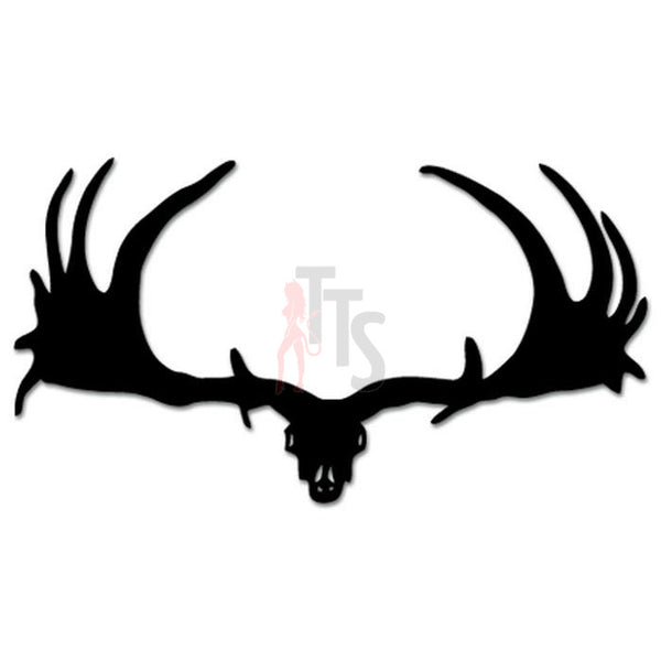 Hunting Moose Antlers Decal Sticker
