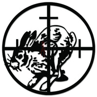 Rabbit Hunting Sniper Crosshairs Decal Sticker