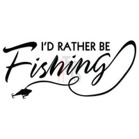 I'd Rather Be Fishing Decal Sticker
