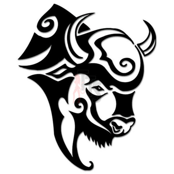 Bison Buffalo Tribal Art Decal Sticker