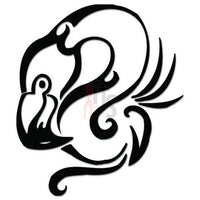 Flamingo Bird Tribal Art Decal Sticker