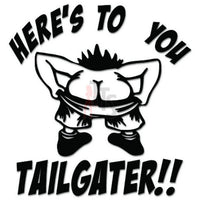 Tailgater Ass Mooning Decal Sticker