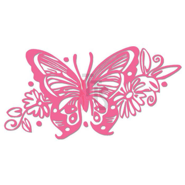 Butterfly Flower Vine Decal Sticker