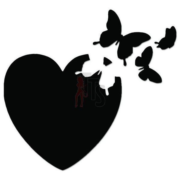 Butterfly Love Heart Decal Sticker