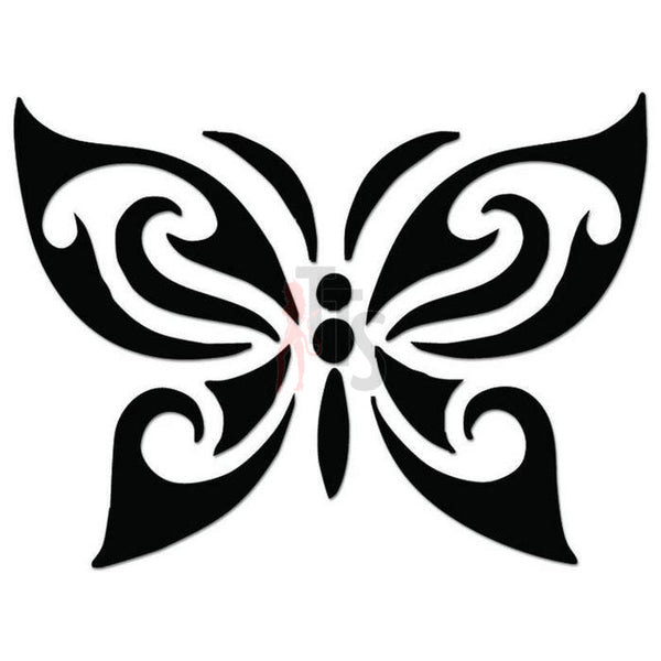 Butterfly Tribal Art Decal Sticker Style 2