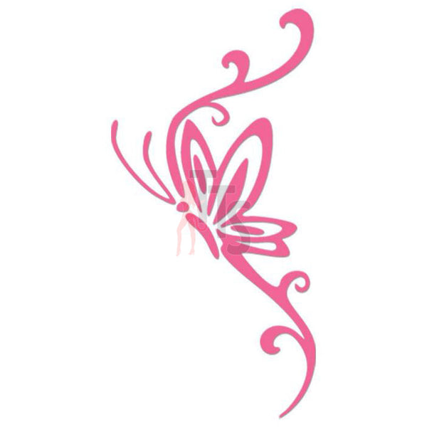 Butterfly Tribal Art Decal Sticker Style 3