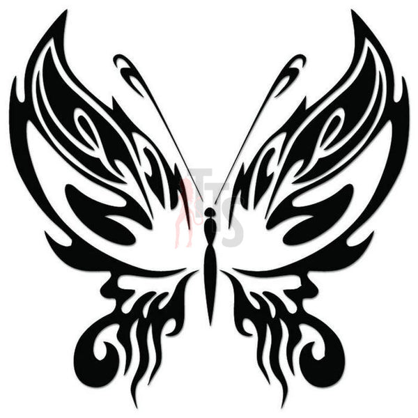 Butterfly Tribal Art Decal Sticker Style 10