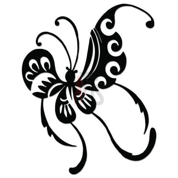 Butterfly Tribal Art Decal Sticker Style 5