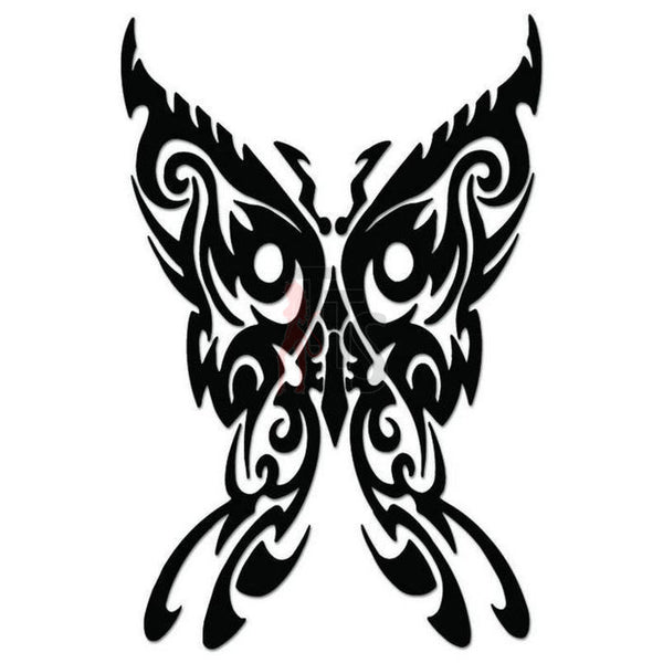 Butterfly Tribal Art Decal Sticker Style 12
