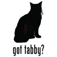 Got Tabby Cat Pet Decal Sticker