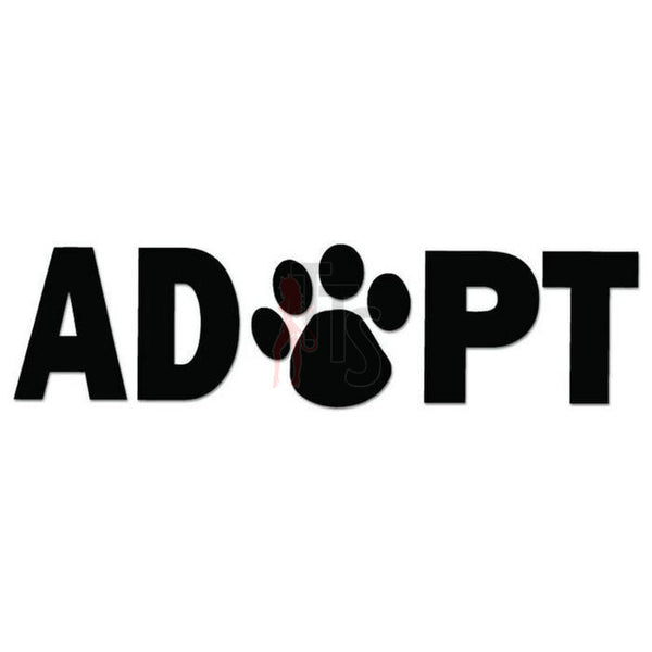Adopt Dog Pet Paw Print Decal Sticker