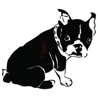 Cute Boston Terrier Dog Decal Sticker Style 1