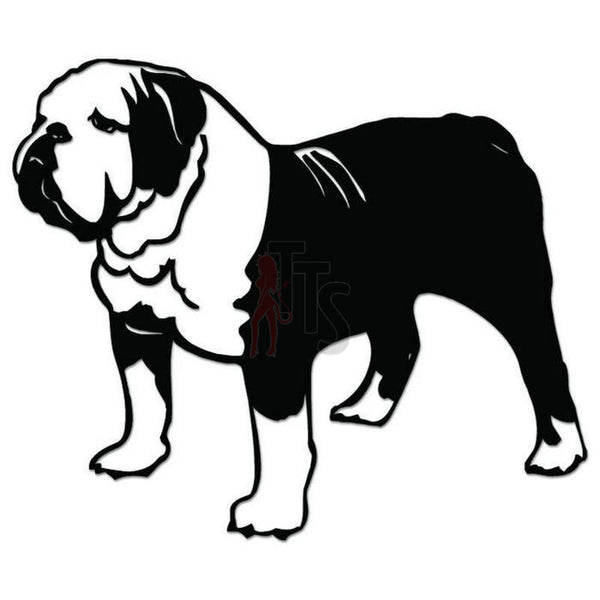 Bulldog Dog Pet Decal Sticker Style 1