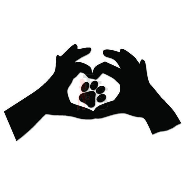 Love Dog Pet Paw Print Decal Sticker