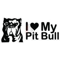 Love Pitbull Heart Dog Pet Decal Sticker