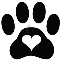 Love Dog Paw Print Pet Decal Sticker