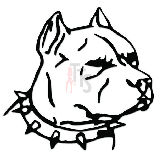 Pitbull Dog Head Pet Decal Sticker
