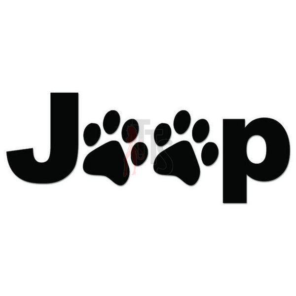 Jeep Dog Paws Print Decal Sticker