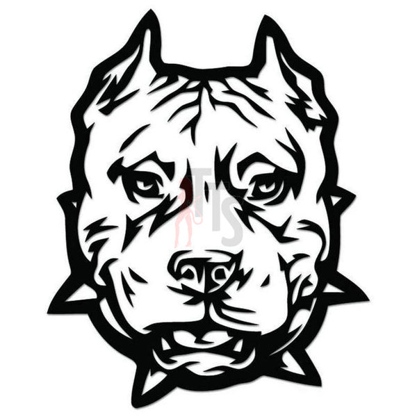Pitbull Dog Pet Decal Sticker Style 1
