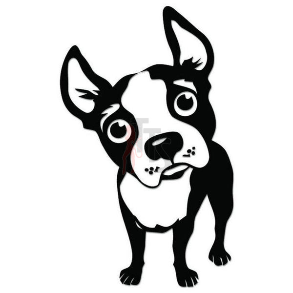 Cute Boston Terrier Dog Decal Sticker Style 2