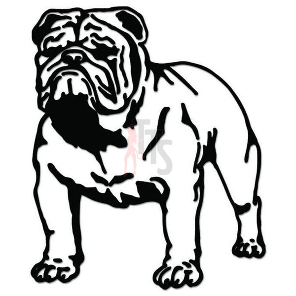 Bulldog Dog Pet Decal Sticker Style 3