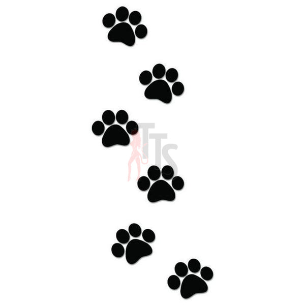Dog Paw Prints Tracks Decal Sticker