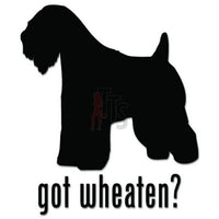 Got Wheaten Terrier Dog Pet Decal Sticker