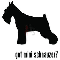 Got Mini Schnauzer Dog Pet Decal Sticker